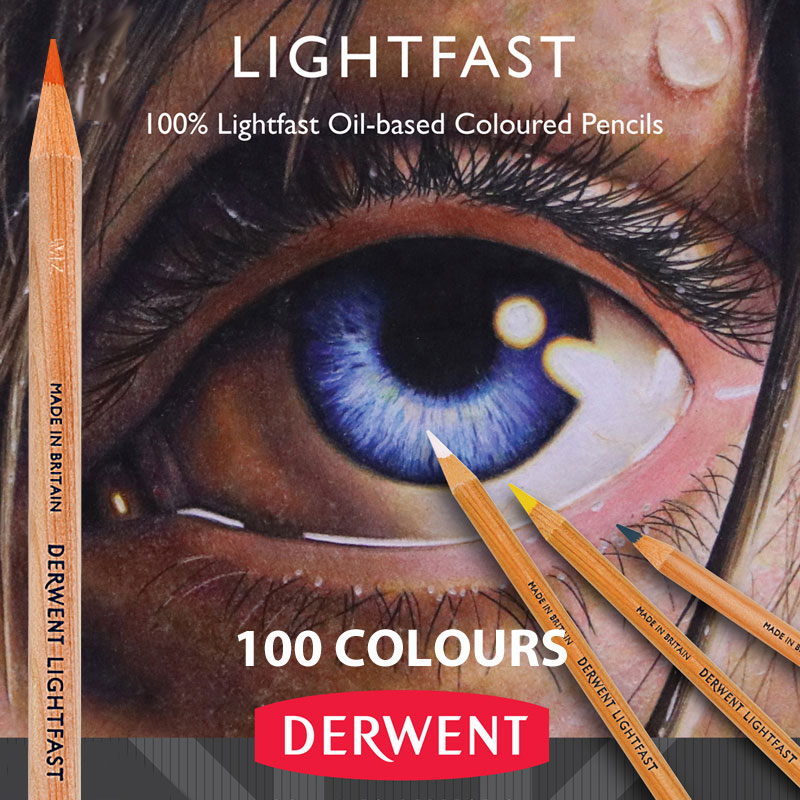 A professional quality oil-based coloured pencil We now stock the full range of 100 colours. Smooth, creamy, coloured pencils made from the best pigments.