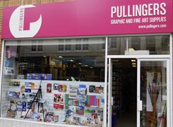Pullingers Art shop in Kingston Surrey