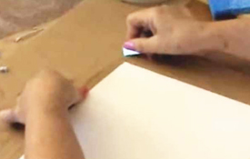 Removing Stretched Watercolour Paper From The Board