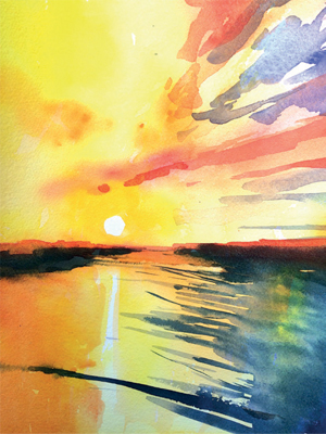 Winsor & Newton Cadmium Free Watercolour Tutorial Step 7