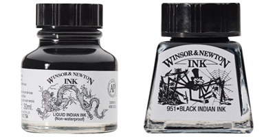 The Difference Between The Black Winsor & Newton Drawing Inks