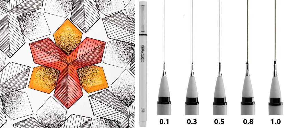 Winsor & Newton Black Fineliner Pens
