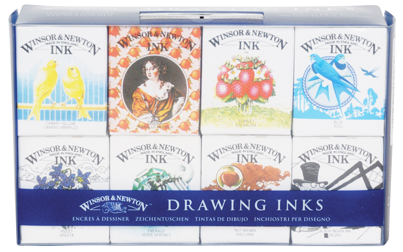 Winsor & Newton Drawing Inks Henry Set