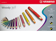 Swan Stabilo Woody 3 In 1 Pencil