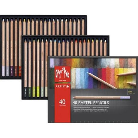 Caran d Ache Pastel Pencils 40 Assorted Set Image 1