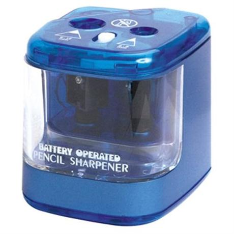 Jakar Double Hole Pencil Sharpener Battery Powered Image 1