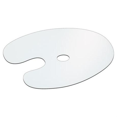 Jakar Large Oval Shaped Flat Plastic Palette Image 1