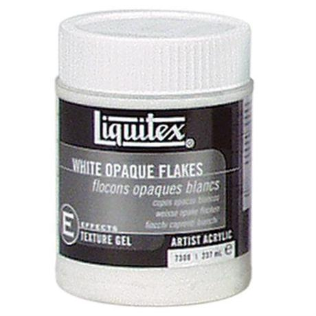 Liquitex White Opaque Flakes Medium 237ml Jar Image 1