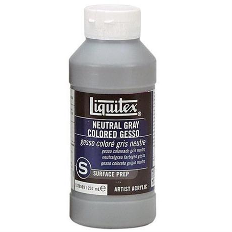 Liquitex Neutral Grey Coloured Gesso 237ml Bottle Image 1