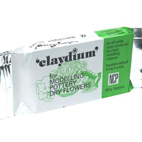 Claydium 500g White Reinforced Air Drying Clay Image 1