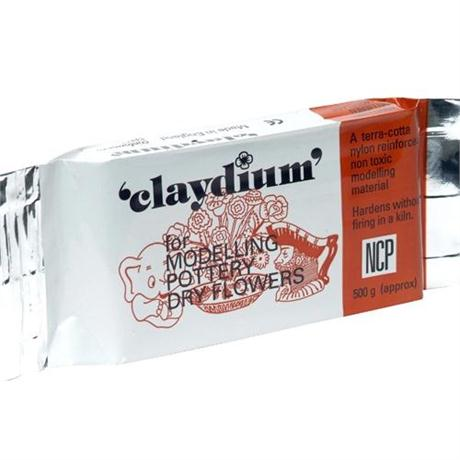 Claydium 500g Terracotta Reinforced Air Drying Clay Image 1