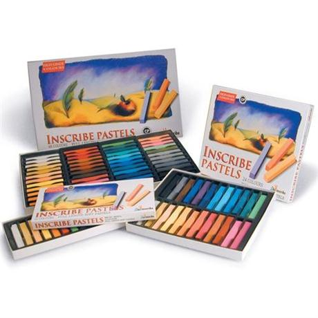 Inscribe Soft Pastel Set - 12 Colours - Full Size Image 1