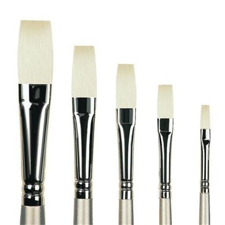 Pro Arte Series 201 Sterling Acrylix Brushes - Long Flat Image 1