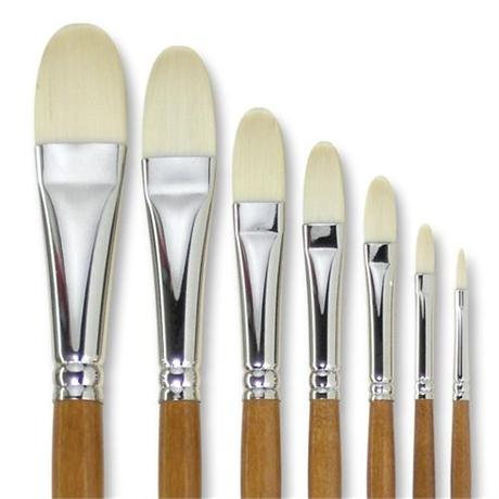 Pullingers Artists Value Ivory-Taklon Brush Filbert Image 1