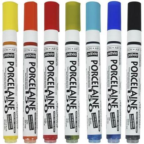 Pebeo Porcelaine 150 Fine Tip Marker Pens Image 1