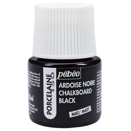 Pebeo Porcelaine 150 Chalkboard Black Paint 45ml Image 1