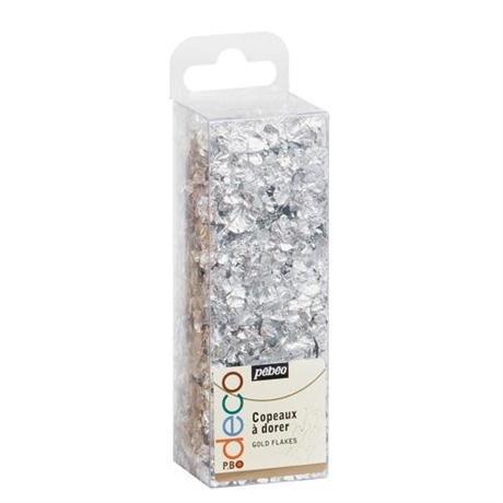 Gilding P.BO Deco Gold Flakes - Silver Image 1