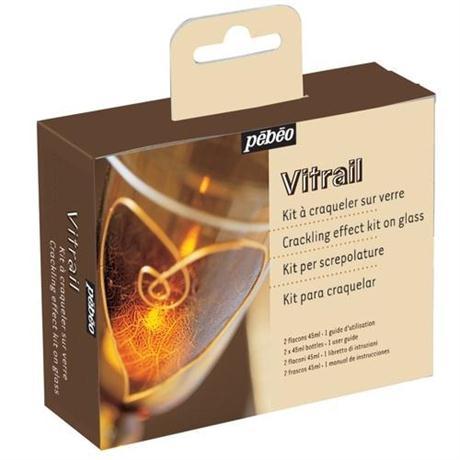 Pebeo Vitrail 45ml Crackling Set Image 1