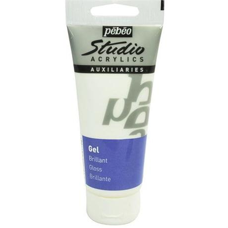 Pebeo Studio Acrylic Brilliant Gloss Gel Medium 100ml Tube Image 1