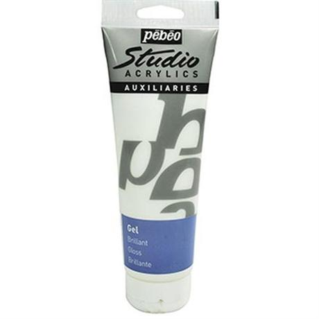 Pebeo Studio Acrylic Brilliant Gloss Gel Medium 250ml Tube Image 1