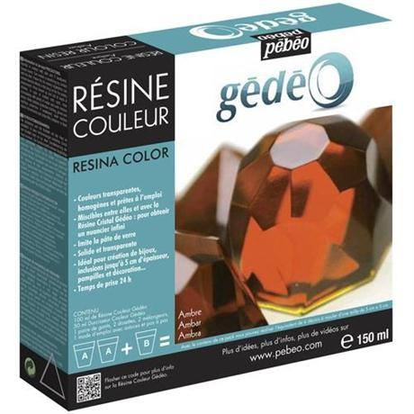 Gedeo Colour Resin 150ml AMBER Image 1