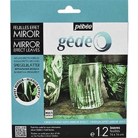 Gedeo Mirror Effect Metal Leaf - GREEN Image 1