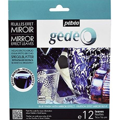 Gedeo Mirror Effect Metal Leaf - BLUE Image 1