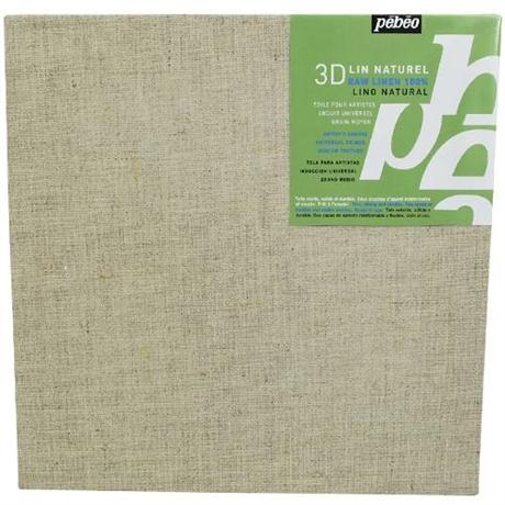 Pebeo 3D Natural Linen Canvas Image 1