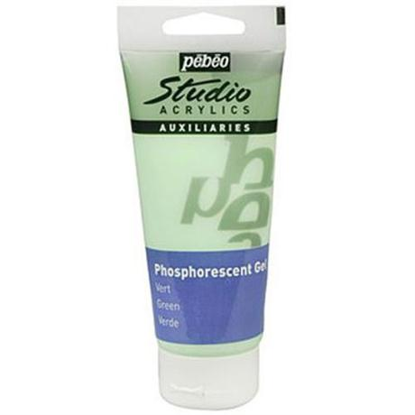 Pebeo Studio Acrylics Phosphorescent Gel 100ml Image 1
