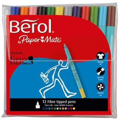 Berol Colour Fine Pens Wallet Of 12 Image 1