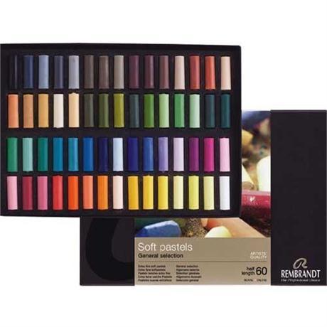 Rembrandt 60 Half Pastels Basic Set Image 1