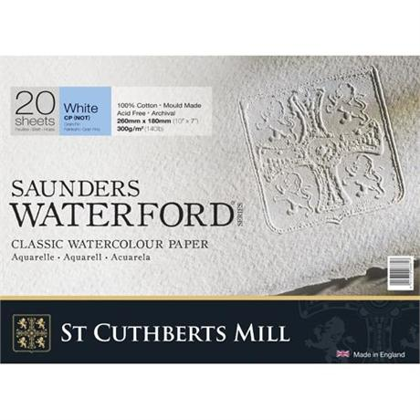 Saunders Waterford Water Colour NOT Blocks 140lbs / 300gsm  Image 1