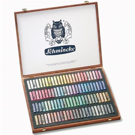 Schmincke Artists Soft Pastel 100 Wooden Box Set Image 1