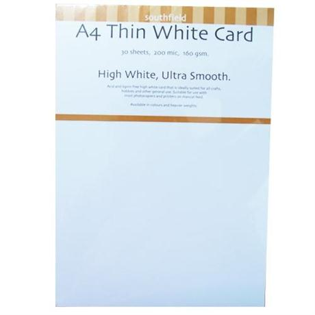 160gsm Thin White Card Packs Image 1