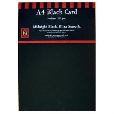 220gsm Black Card Packs Image 1