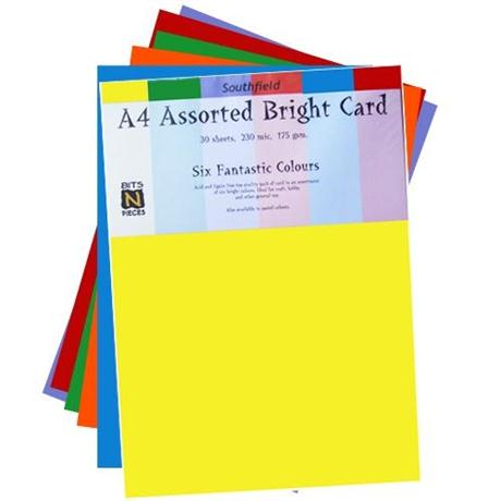 Assorted Coloured Card Packs 175gsm Image 1