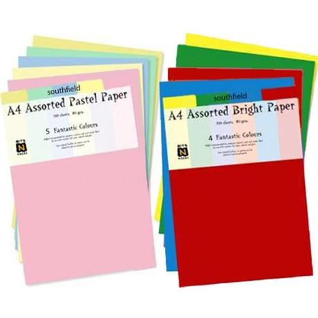 Assorted Coloured Paper Packs 80gsm Image 1