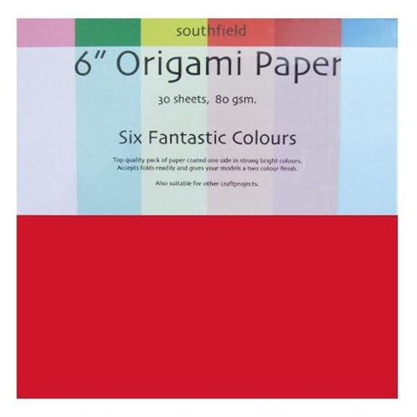 Origami Paper Packs Assorted Colours 80gsm Image 1