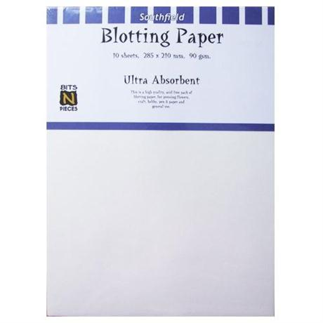 210 x 285mm White Blotting Paper Pack Of 10 Sheets Image 1