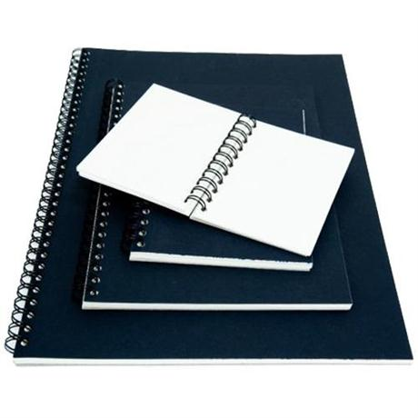 Seawhite Euro Sketchbooks With WHITE Paper & Black Pop Cover Image 1