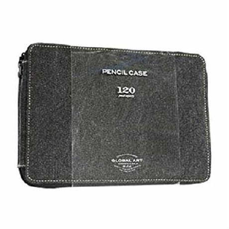 Black Canvas Pencil Case For 120 Pencils Image 1