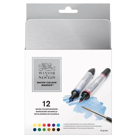 Winsor & Newton Water Colour Marker Set of 12 Image 1