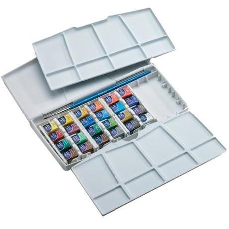 Cotman Painting Plus - 24 Half Pans Image 1