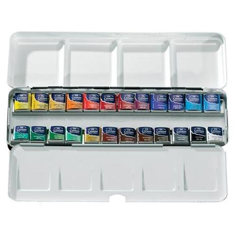 Cotman Metal Sketchers Box (24 Half Pans) Image 1