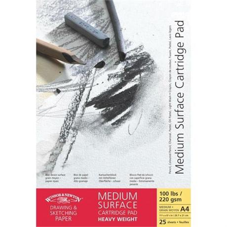 Winsor & Newton Medium Surface Heavyweight Cartridge Paper 220gsm Image 1