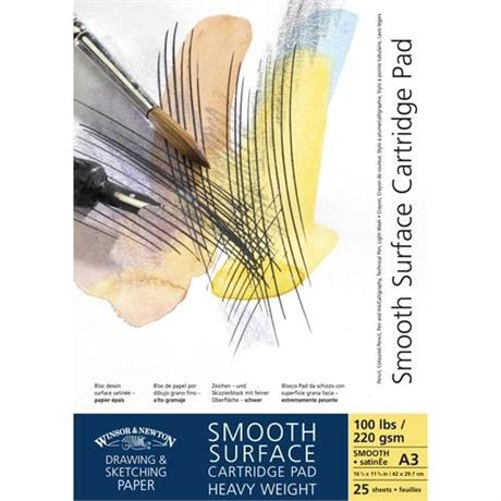 Winsor & Newton Smooth Surface Heavyweight Cartridge Paper 220gsm Image 1