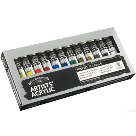 Winsor & Newton Artists Acrylic Paint Starter Set 12 x 20ml Image 1