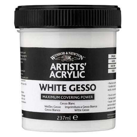 Winsor & Newton Artists' Acrylic White Gesso Image 1