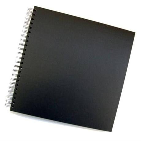 Seawhite Black Card Spiral Sketch Book 300 x 300mm Square Image 1