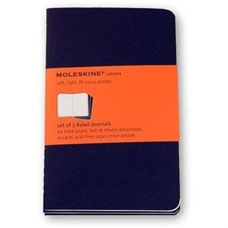 Moleskine Ruled Cahier Pocket - Black (Set of 3) Journal Notebook Image 1